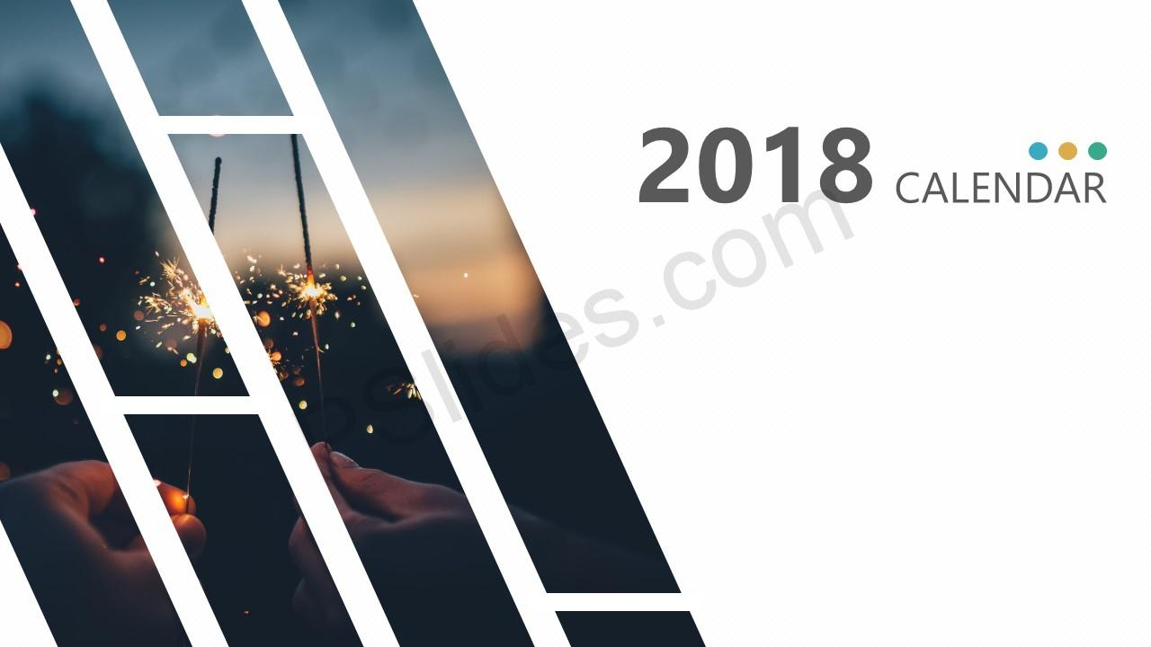 Free 2018 Calendar for PowerPoint - Pslides