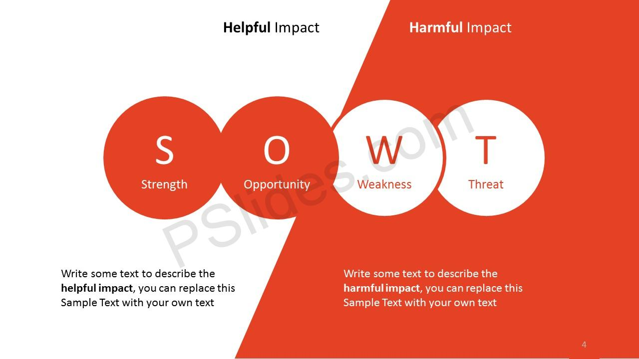 ... Simple SWOT Analysis Slide 4 ...  Microsoft Swot Analysis Template