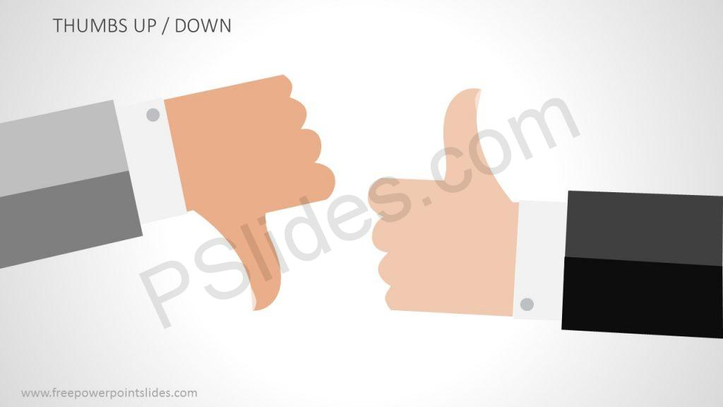 Free Thumbs Up / Down PowerPoint Illustration