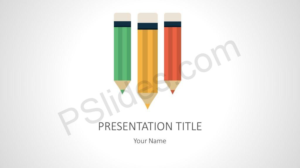 Free Colored Pencils PowerPoint Template