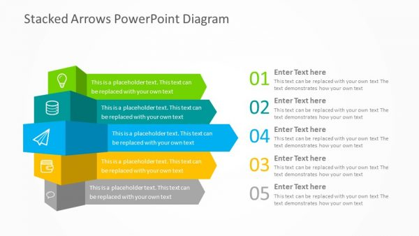 stacked arrows powerpoint