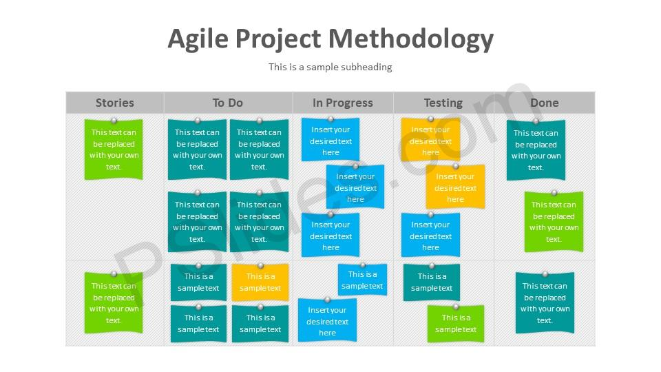 Agile Project Methodology PowerPoint Diagram