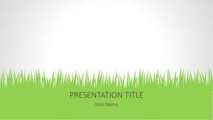 Grass PowerPoint Background