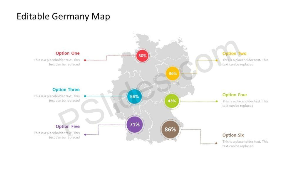 PowerPoint Template for Germany with regions