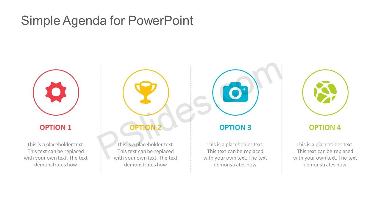 simple agenda template for powerpoint, Modern powerpoint