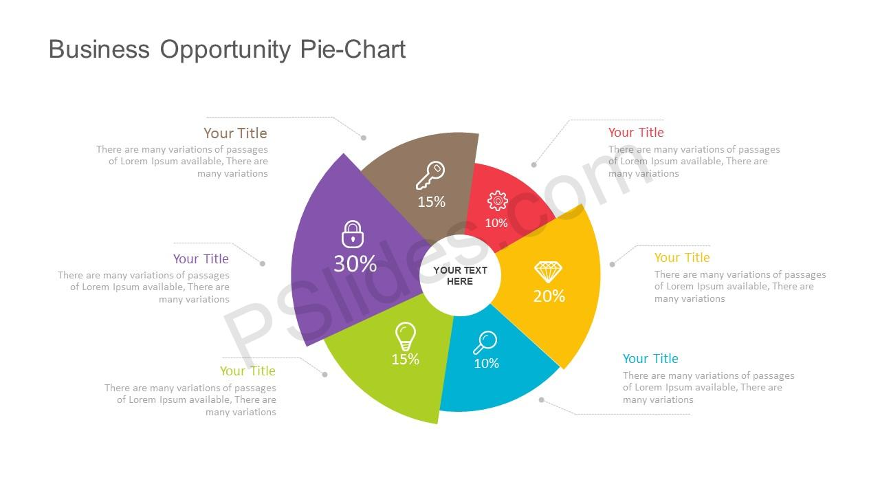 free business opportunity pie chart for powerpoint. Black Bedroom Furniture Sets. Home Design Ideas