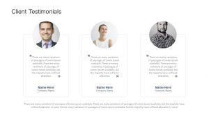 Client Testimonials for PowerPoint