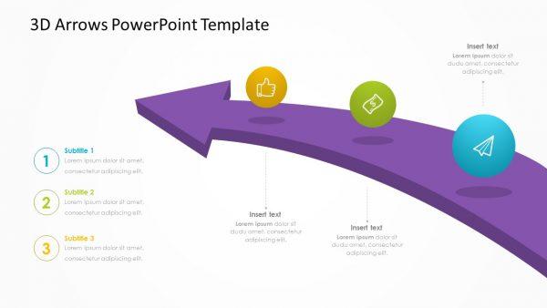 3D Arrows PowerPoint Template
