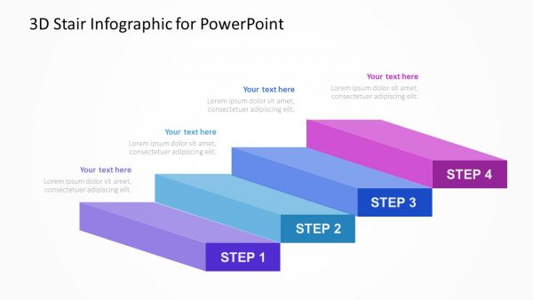 3D Stairs PowerPoint