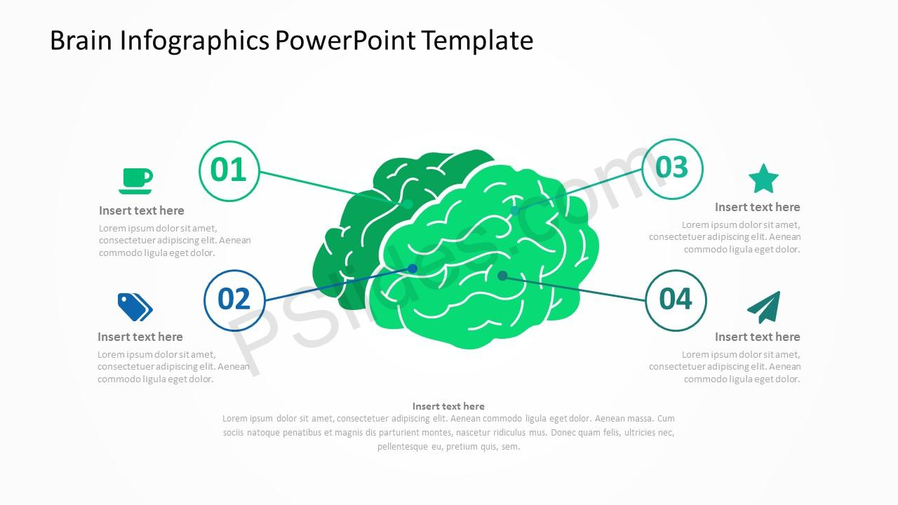 brain infographics powerpoint template pslides