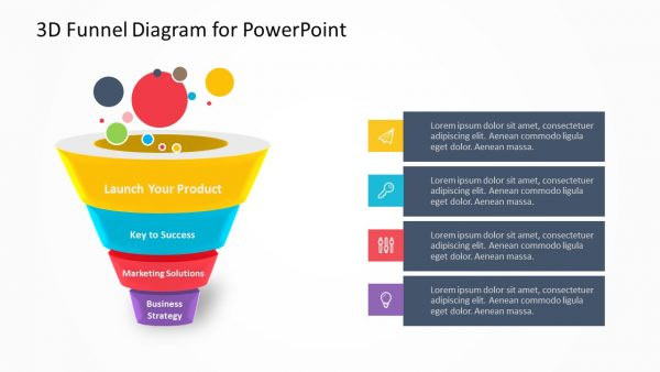 3D Funnel Diagram for PowerPoint
