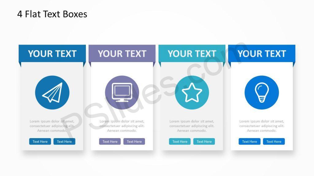 4 Flat Text Boxes