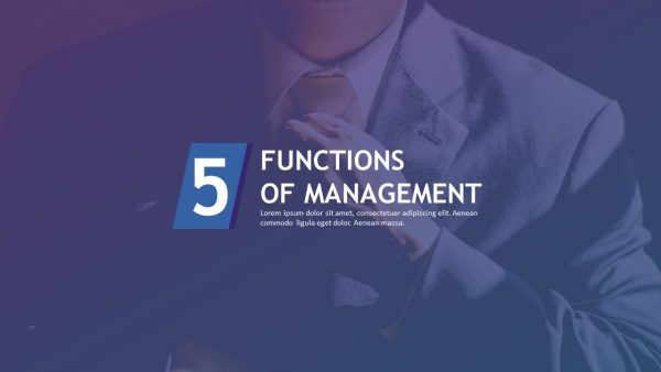 Management Functions PPT Slide 1