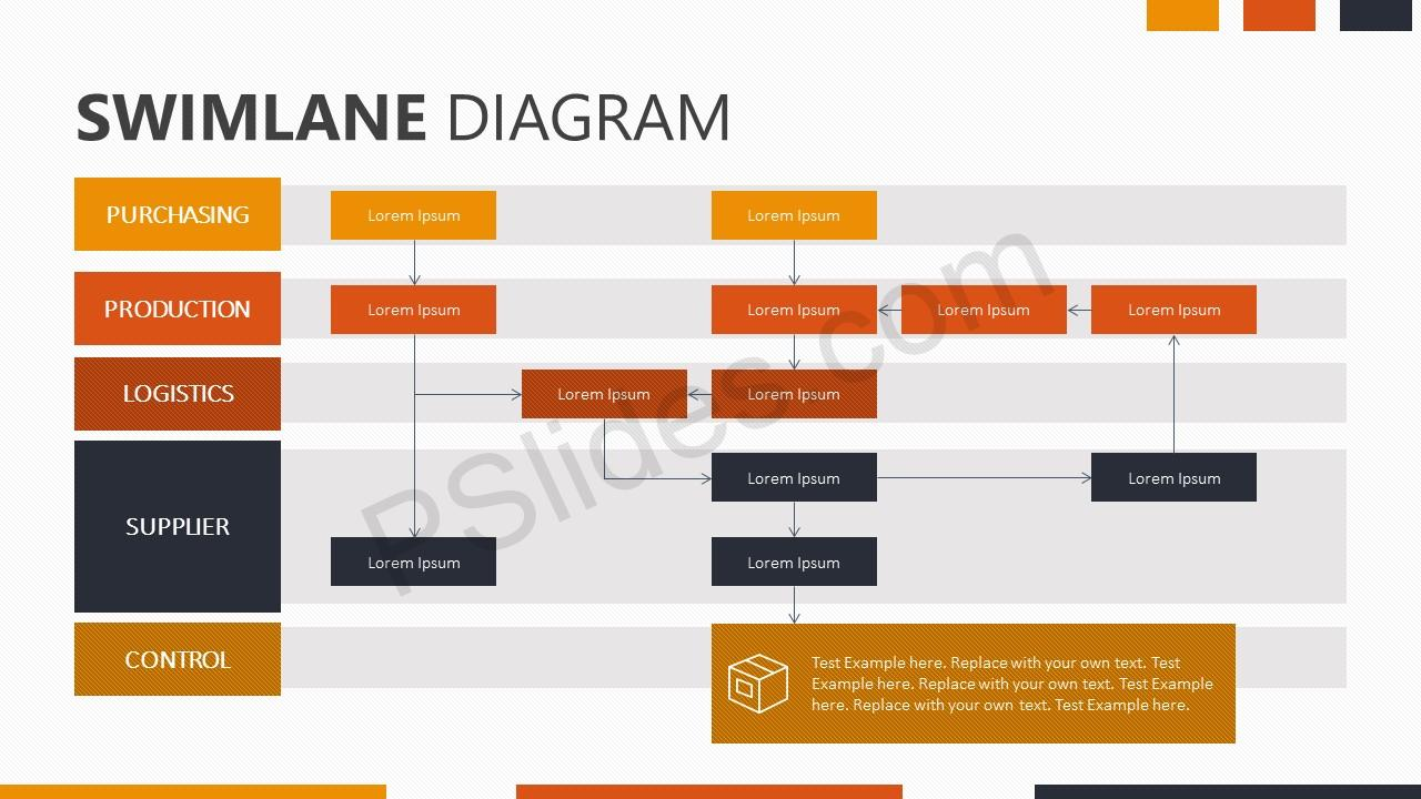 swimlane diagram for powerpoint - pslides, Modern powerpoint