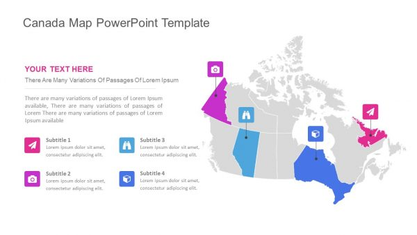 Canada Map PowerPoint Slide 1