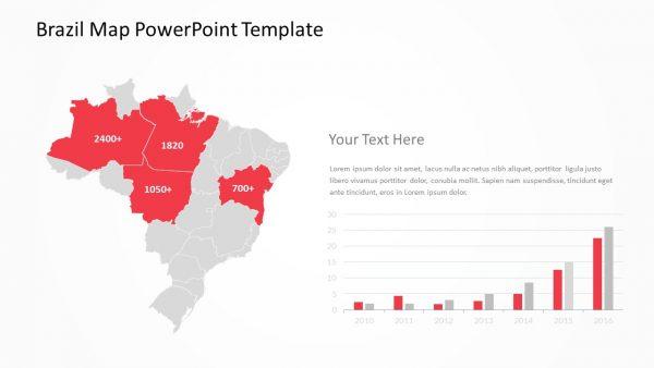 Brazil PowerPoint Map Slide 5