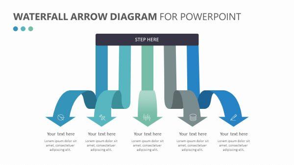 Waterfall Arrow Diagram Slide 4