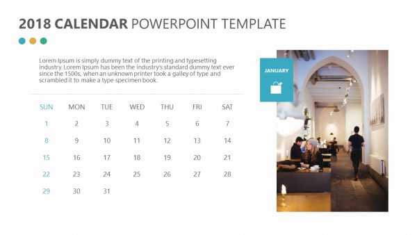 Free 2018 Calendar for PowerPoint