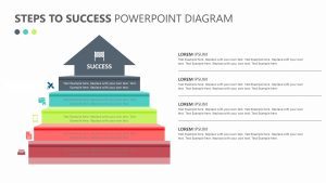 Free Steps to Success PowerPoint Diagram