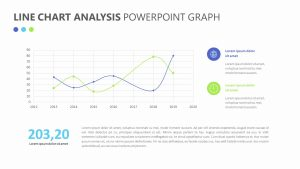 Line Chart Analysis PowerPoint Graph