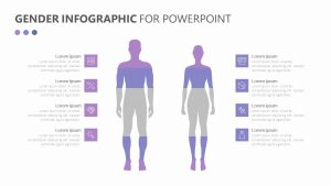 Free Gender Infographic for PowerPoint
