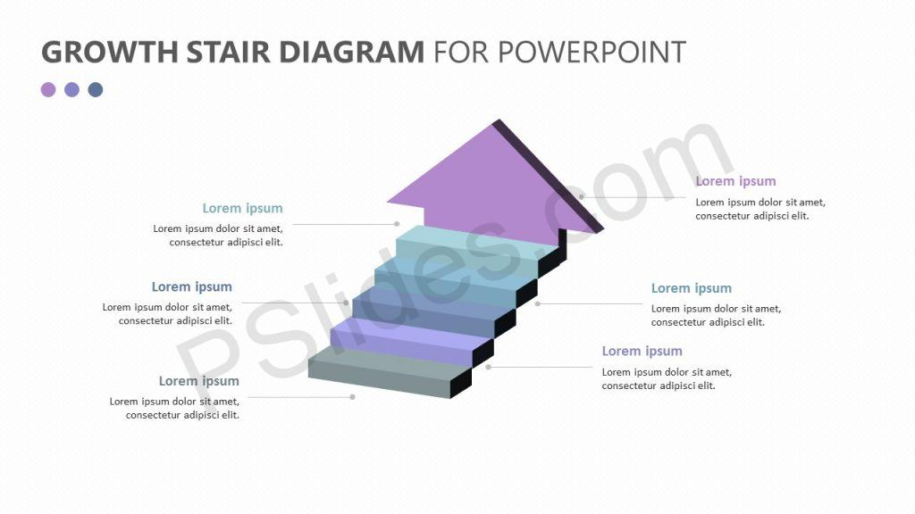 Growth Stair Diagram for PowerPoint Slide 1