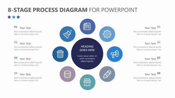 8-Stage Process Diagram Slide 1