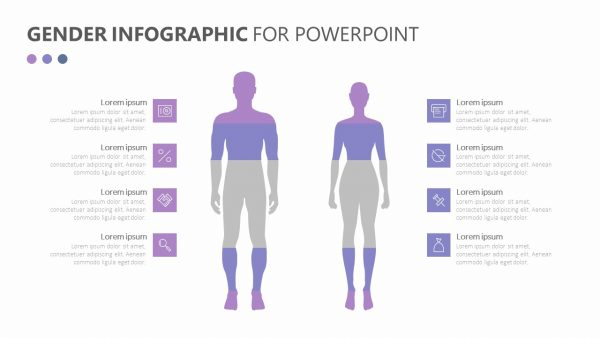 Gender Infographic for PowerPoint
