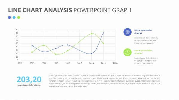 Line Chart Analysis PowerPoint Graph Slide 1