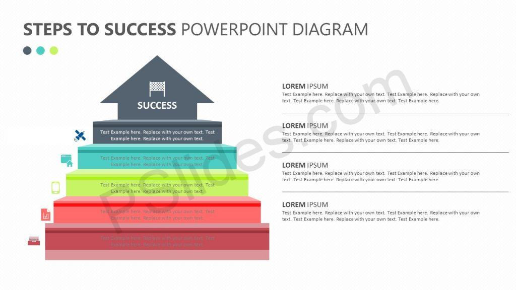 Steps to Success PowerPoint Diagram