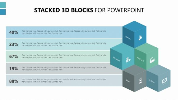 Stacked 3D Blocks for PowerPoint
