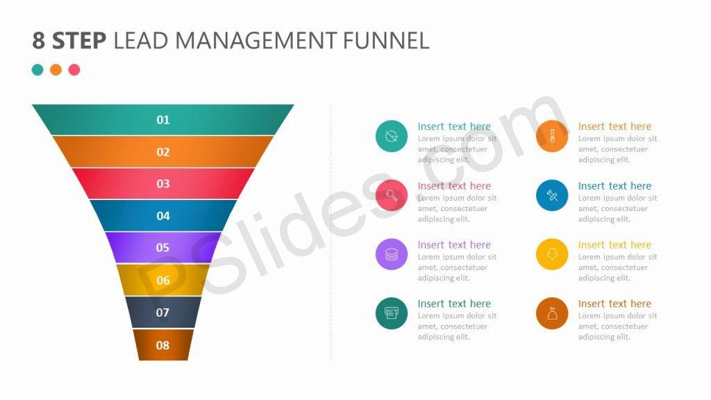 8 Step Lead Management Funnel Diagram Slide 3