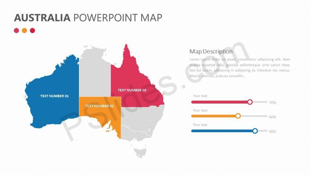 Australia PowerPoint Map Slide 1