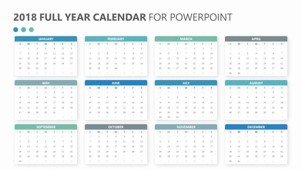 free 2018 calendar for powerpoint pslides. Black Bedroom Furniture Sets. Home Design Ideas