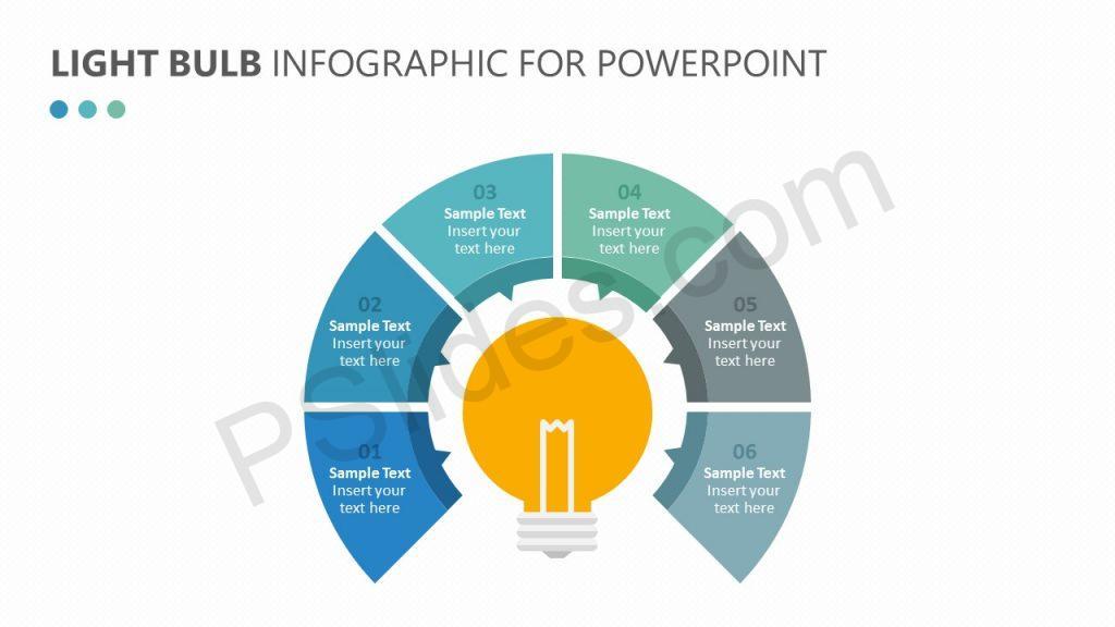 Light Bulb Infographic for PowerPoint Slide 1