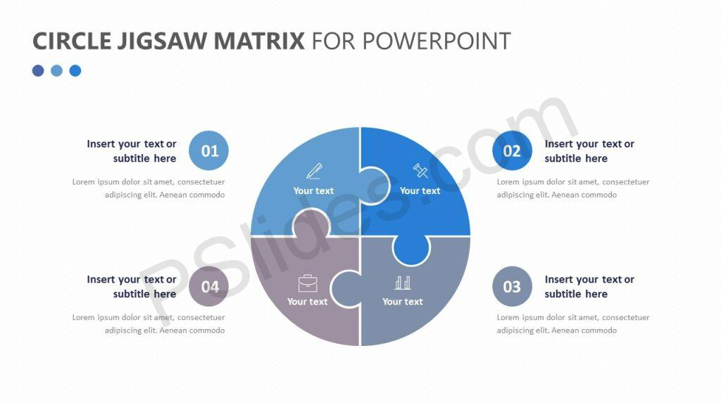 Circle Jigsaw Matrix for PowerPoint Slide 1