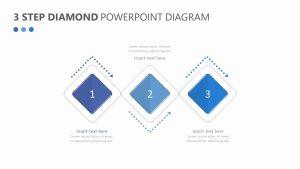 3 Step Diamond PowerPoint Diagram