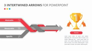 3 Intertwined Arrows for PowerPoint