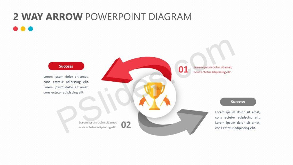 2 Way Arrow PowerPoint Diagram Slide 2