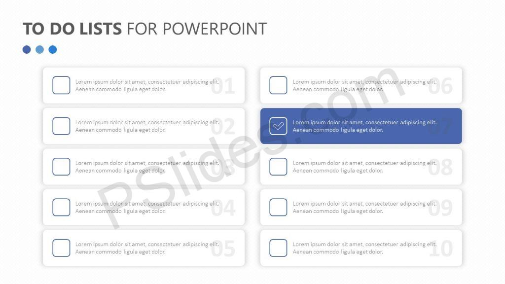 To Do Lists for PowerPoint Slide 5