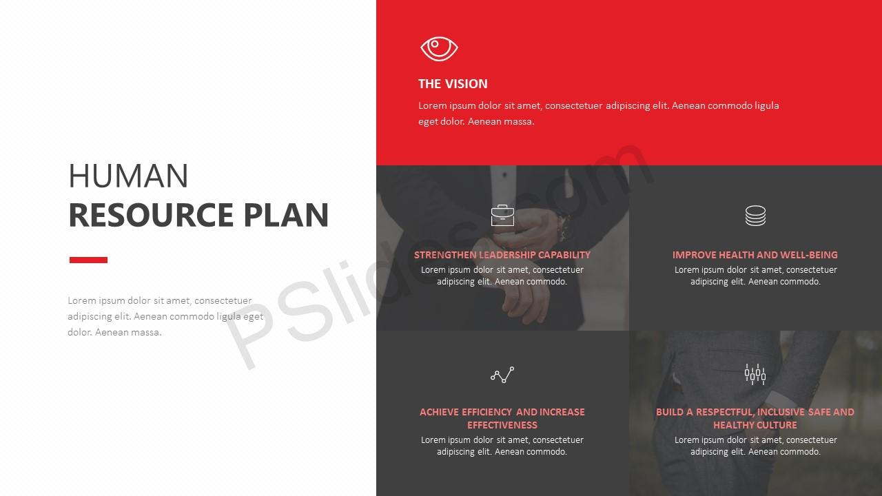human resource plan powerpoint template - pslides, Modern powerpoint