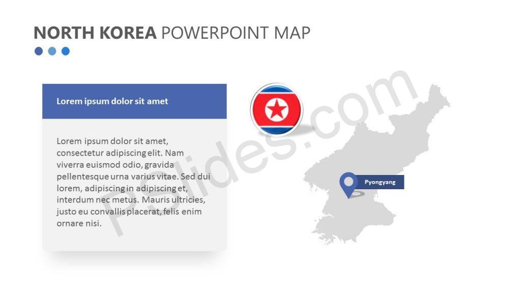 North Korea PowerPoint Map (4)