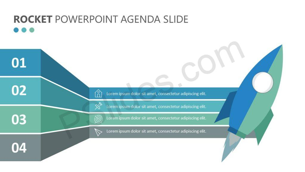 Rocket PowerPoint Agenda Slide (2)