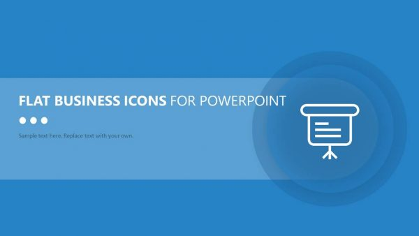 Flat Business Icons for PowerPoint