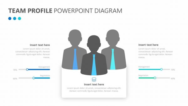 Team Profile PowerPoint Diagram