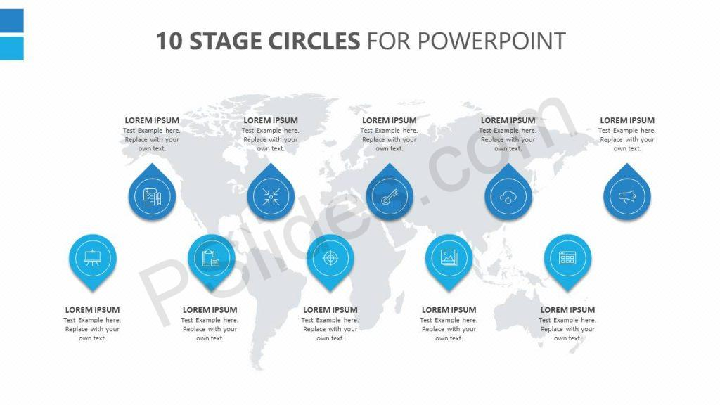 10 Stage Circles for PowerPoint