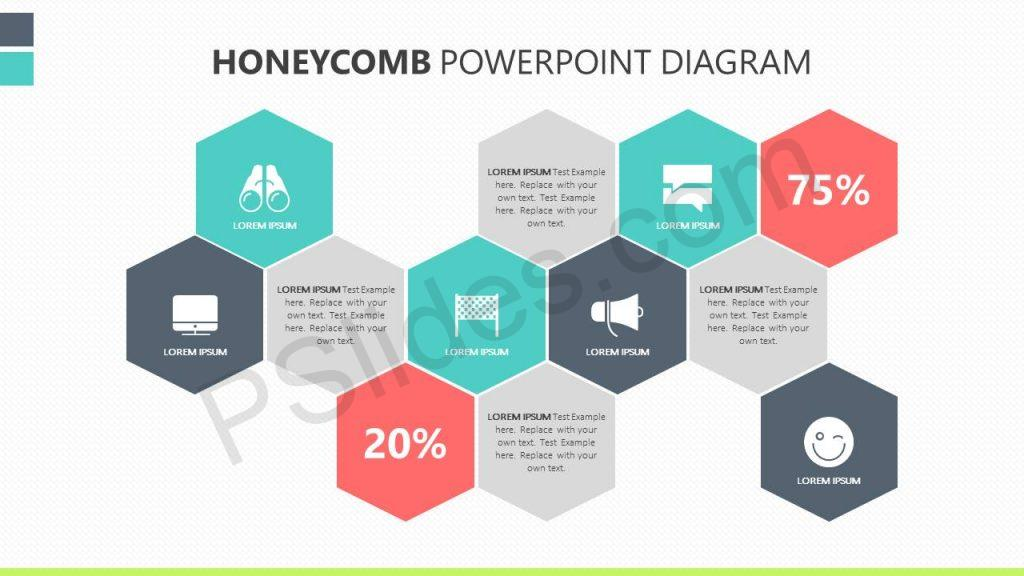 Free Honeycomb PowerPoint Diagram