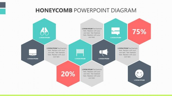 Honeycomb PowerPoint Diagram