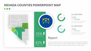 Nevada Counties PowerPoint Map