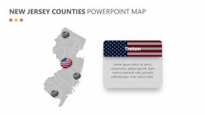 New Jersey Counties PowerPoint Map